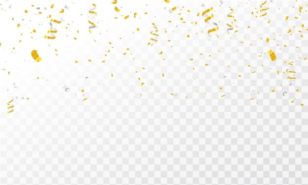 Confetti gouden linten.