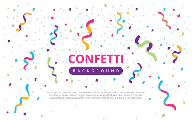 Confetti jaarlijkse verjaardag achtergrond