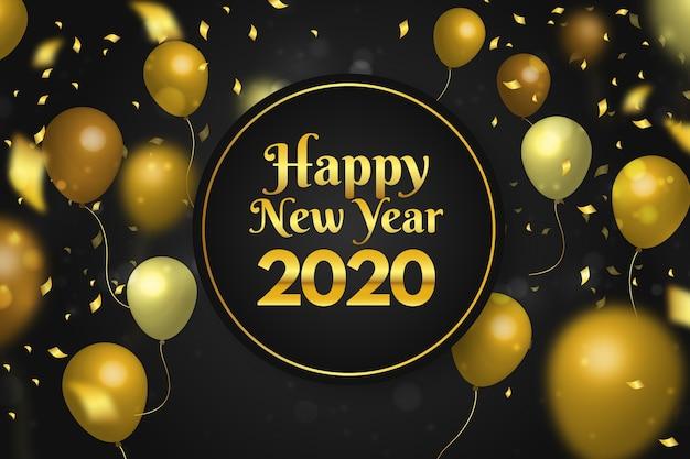Confetti nieuwjaar 2020 achtergrond