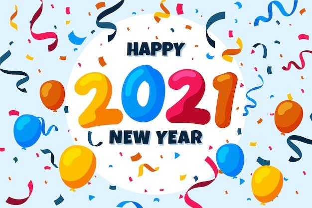 Confetti nieuwjaar 2021 achtergrond