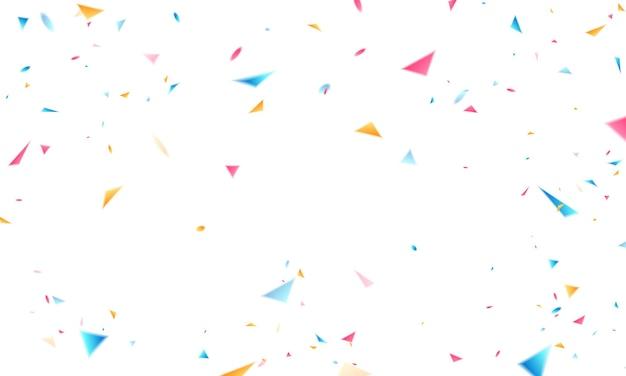 Confetti ontwerp sjabloon vakantie promotie, achtergrond viering vectorillustratie.