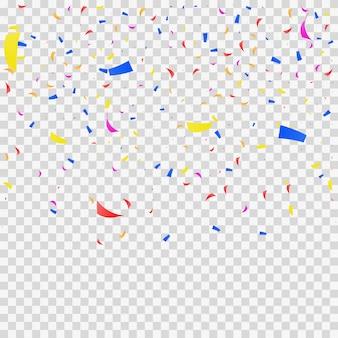 Confetti valt op transparant