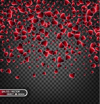 Confetti voor liefde berichten, afbeelding ontwerp voor valentijnsdag.