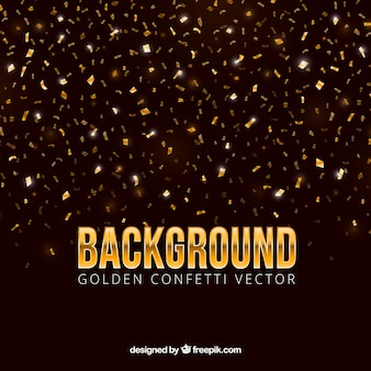 Confettienachtergrond in gouden stijl