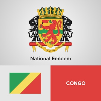 Congo national emblem en vlag