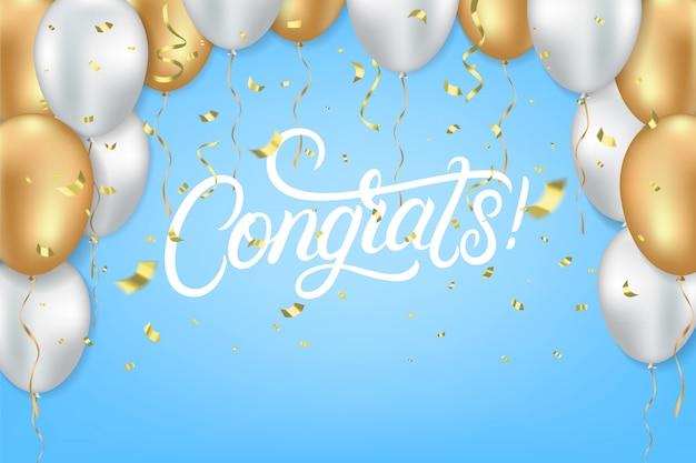 Congrats vieren sjabloon