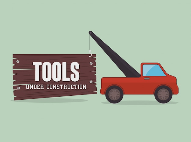 Constructie en hulpmiddelen thema-ontwerp.