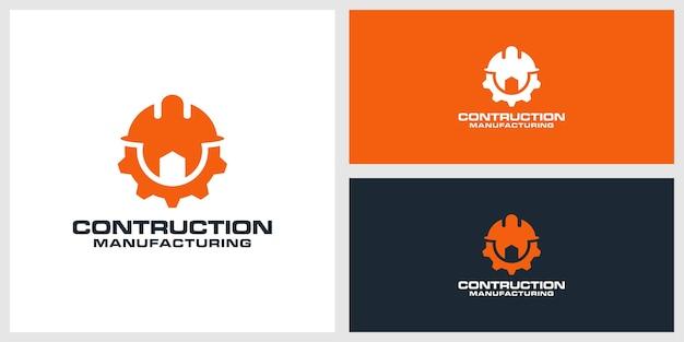 Constructie logo ontwerp premium