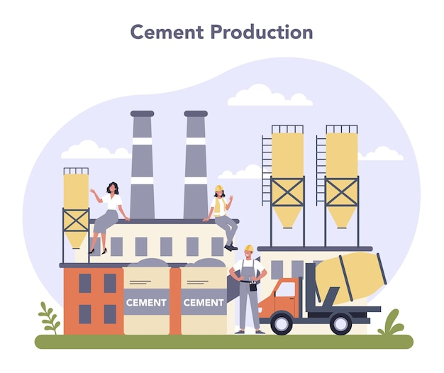 Constructieve materiaalproductie-industrie