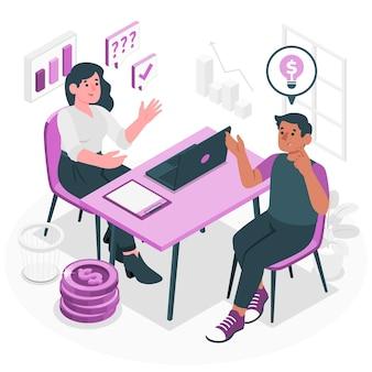Consultatieve verkoop concept illustratie