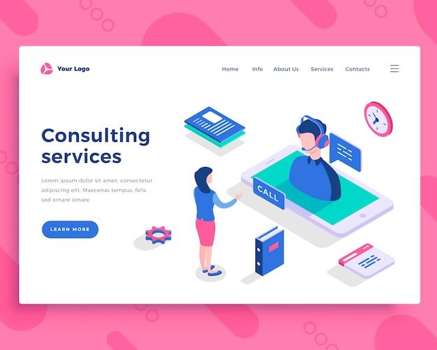 Consulting diensten concept