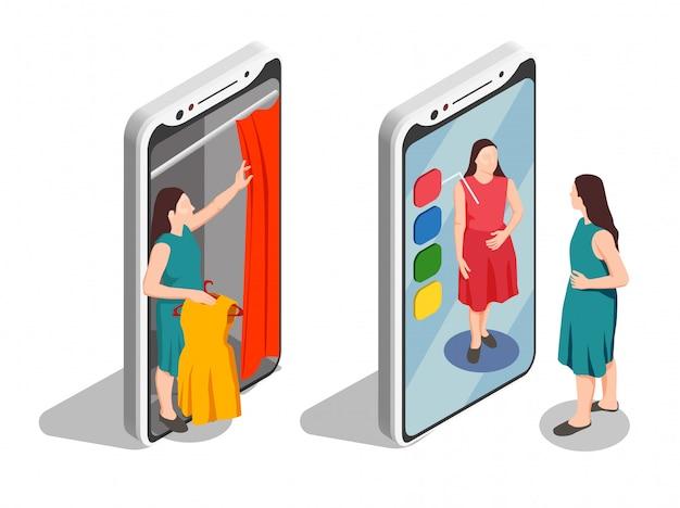 Consumenten isometrische set