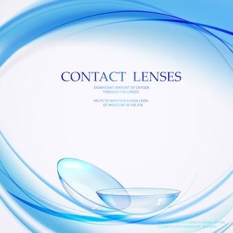 Contactlenzen voor medische illustratie.