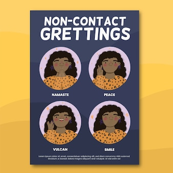 Contactloos groeten poster concept