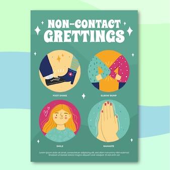 Contactloos groeten posterontwerp