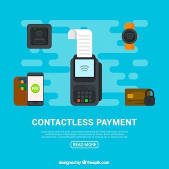 Contactloze betaalelementen met vlak ontwerp