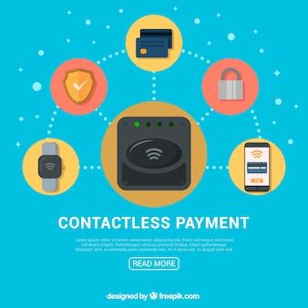 Contactloze betaling met platte pictogrammen