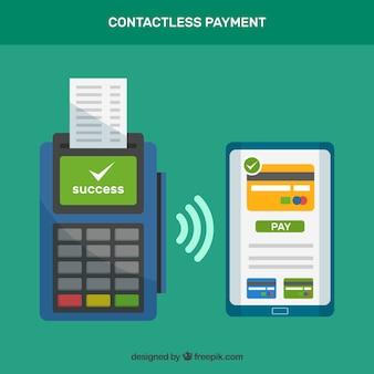 Contactloze betaling met tablet