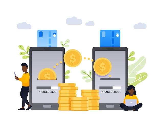 Contactloze directe betaling van persoon tot persoon