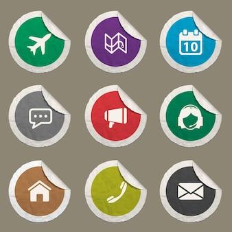 Contactpictogrammen ingesteld voor websites en gebruikersinterface