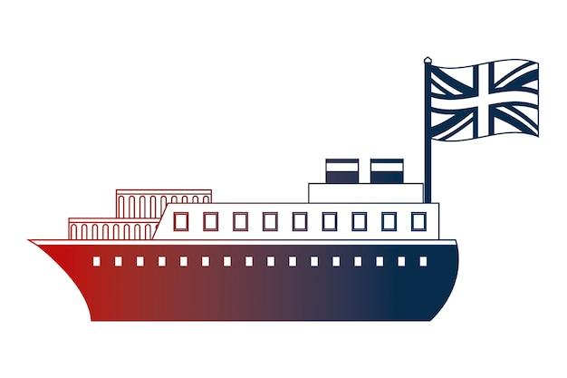 Containerschip boot vervoer engelse vlag