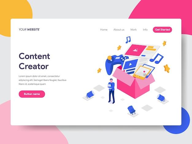 Content creator illustratie
