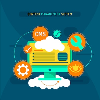 Content management systeem illustratie