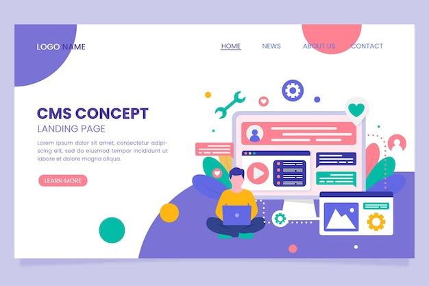 Content management systeem plat ontwerp