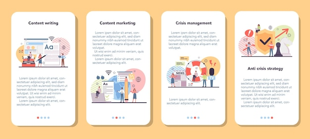Contentmarketing banner voor mobiele applicatie