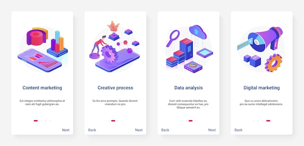 Contentmarketing creatieve digitale technologie illustratie