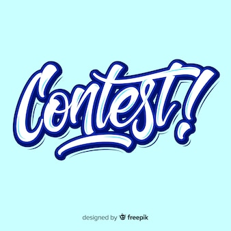Contest belettering