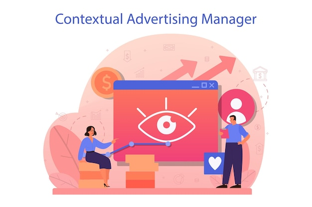 Contextueel adverteren en targetingconcept