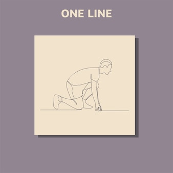 Continu lijntekening van man loopt kunst concept van een lopende man