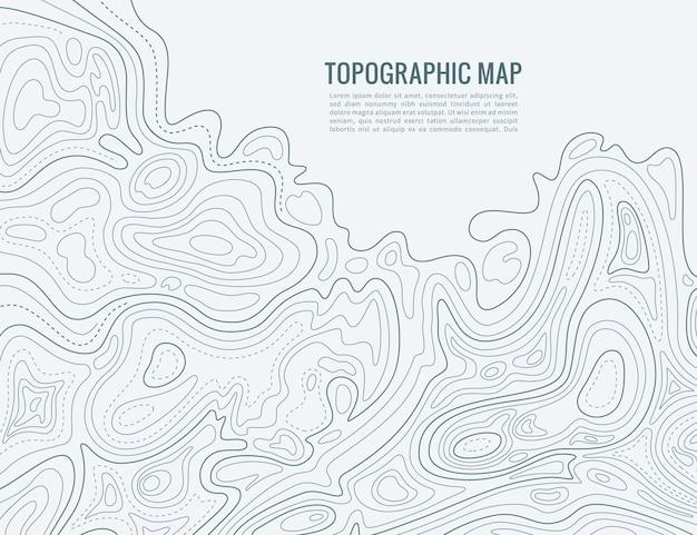 Contourlijnkaart. hoogte contouren contour cartografie textuur. topografische reliëfkaart