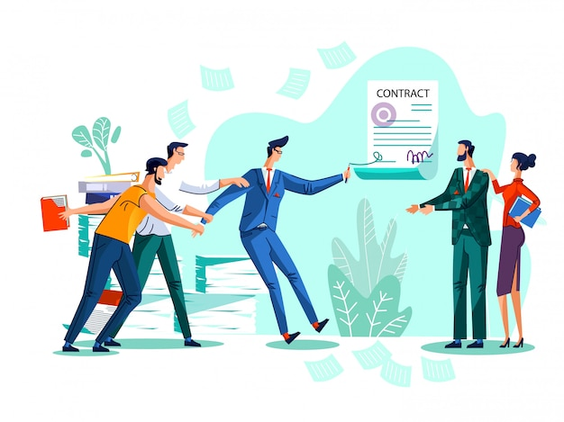 Contract conclusie concept illustratie
