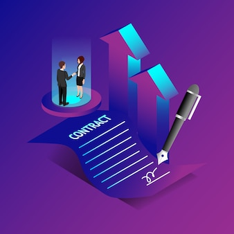 Contract en overeenkomst concept