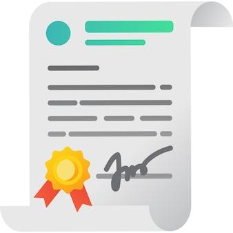 Contract formulier pictogram vector papieren document op wit