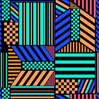 Contrast kleurrijke naadloze patroon
