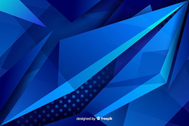 Contrasterende blauwe vormen met stippenachtergrond