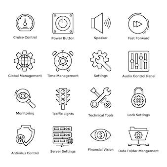 Controle cruise pictogrammen