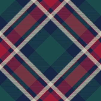 Controleer de textuur naadloos patroon van de plaid diagonaal stof