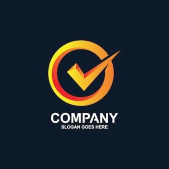 Controleer logo-ontwerp