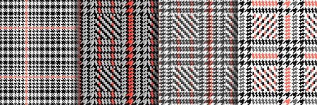 Controleer mode naadloze patronen set vector herhaal achtergronden