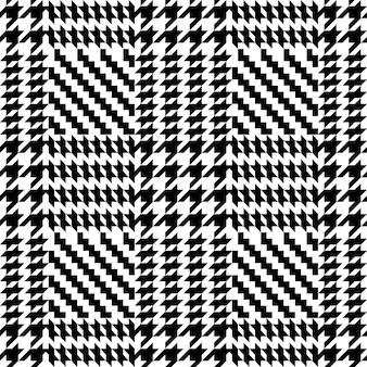 Controleer mode tweed naadloos patroon voor mode textiel prints behang en achtergronden