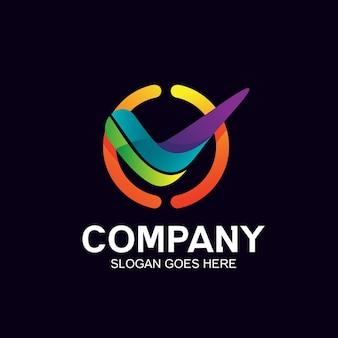 Controleer pictogram en logo-ontwerp