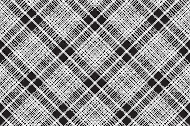 Controleer zwart-wit geruit naadloos patroon