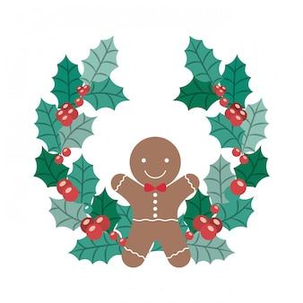 Coockie van vrolijk kerstfeest