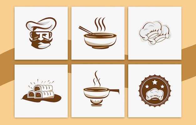 Cook logo ontwerp vector collectie