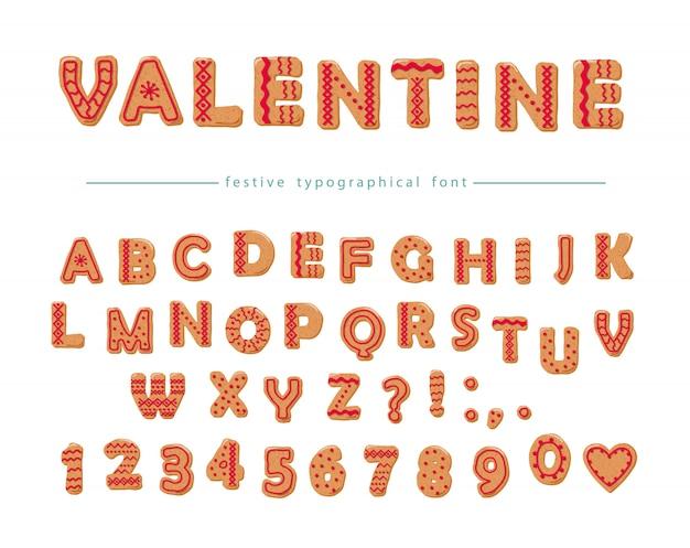 Cookie hand getekende decoratieve lettertype