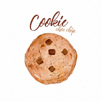 Cookie met chips illustratie